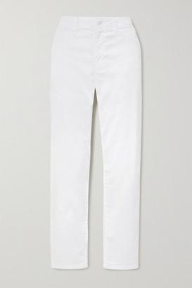 J Brand Ollie Cotton-blend Twill Pants - White