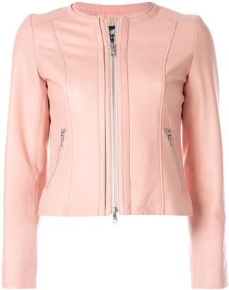 Loveless zipped leather jacket