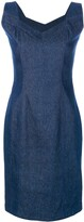 John Galliano Pre Owned denim sleeveless dress