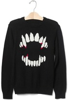 Gap Intarsia graphic crew sweater