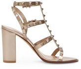 Valentino Garavani Rockstud Cage Metallic Leather Sandals