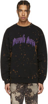 Palm Angels Black Purple Haze Pullover