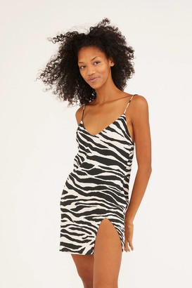 Motel Katya Zebra Print Mini Dress