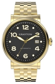 Grayton Men's Classic Collection Gold Tone Stainless Steel Bracelet watch 44mm