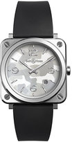 Bell & Ross ladies' square grey rubber strap watch