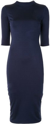 Alice + Olivia Short-Sleeve Fitted Midi Dress
