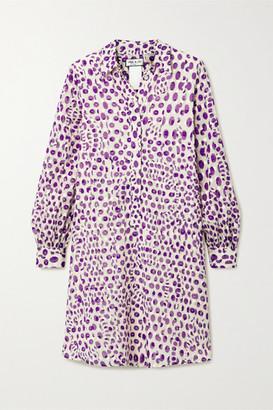 Paul & Joe Floral-print Fil Coupe Cotton Dress - Purple