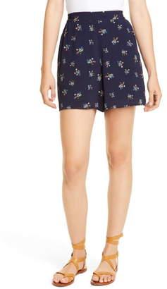 Dolan Floral High Waist Shorts