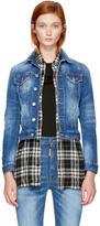 DSQUARED2 Blue Washed Denim Jacket
