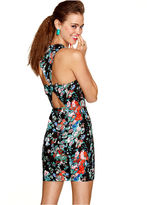 Material Girl Dress, Sleeveless Floral Print Bow Tie Cutout