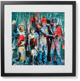 Sonic Editions Framed Stone Roses Paint, Manchester Print 17 X 21 - Black