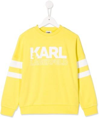 Karl Lagerfeld Paris Printed Crew Neck Sweatshirt