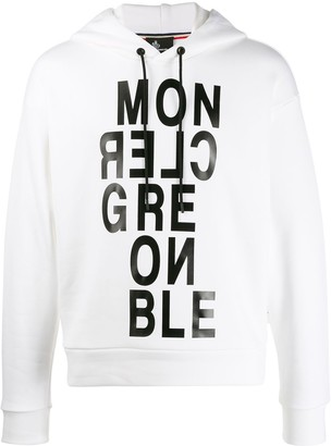 Moncler printed logo hoodie