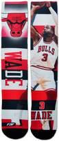For Bare Feet Men's Chicago Bulls Dwyane Wade Pro Stripe Crew Socks