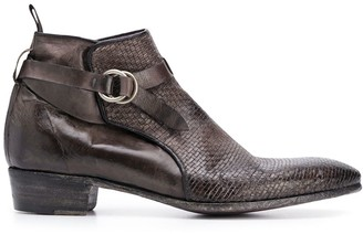 Lidfort Da Canguro woven ankle boots