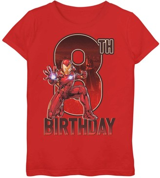 Iron Man Licensed Character Girls 7-16 Marvel 8th Birthday Tee