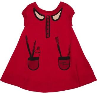 Emporio Armani Printed Cotton Jersey Dress