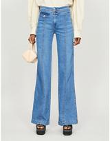 Veronica Beard Ember wide-leg high-rise stretch-denim jeans