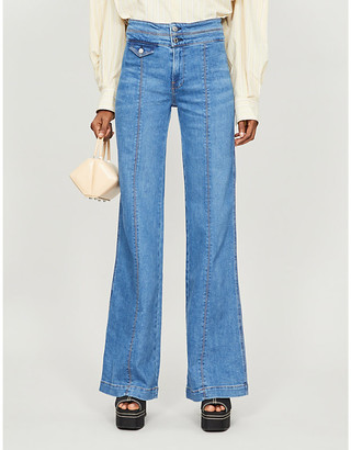 Veronica Beard Ember wide-leg high-rise stretch-denim jeans