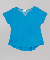Erge Turquoise Fishnet Top - Girls