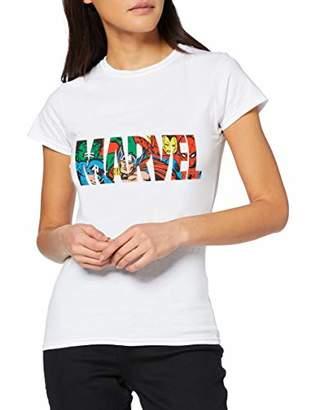 Marvel Women's Logo Character Infill T - Shirt,12 (Size:L)