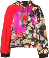 Etro patchwork floral hoodie
