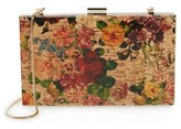 Sondra Roberts Floral Cork Clutch - Brown