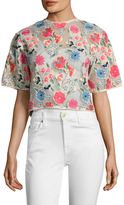 Manoush Garden Floral Embroidered Crop Top