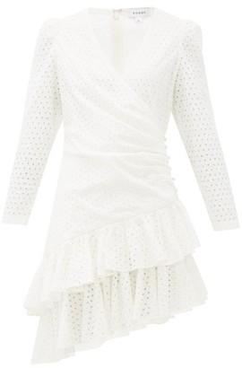 Rhode Resort Lola Ruffled Broderie-anglaise Cotton Wrap Dress - White