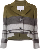 Carolina Herrera cropped stepped hem jacket - women - Silk/Mohair/Virgin Wool - 4