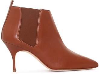 Manolo Blahnik Dildi 70 tan nappa ankle boots