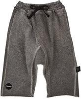 Nununu Raw-Edge Cotton French Terry Harem Sweatpants