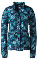 Classic Women's Petite Lightweight Down Packable Jacket-Slate Frost Houndstooth