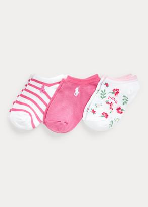 Ralph Lauren Floral Low-Cut-Sock 3-Pack