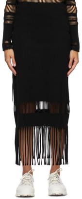 Issey Miyake Black Misty A-POC Long Skirt