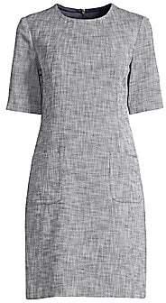 Trina Turk Women's Jet Set Jungle Paradiso Twill Patch Pocket Shift Dress - Size 0