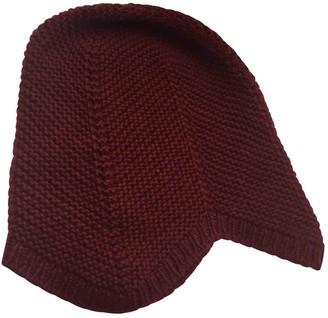 Bottega Veneta Burgundy Cashmere Hats