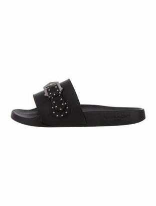 Givenchy Studded Accents Slides Black