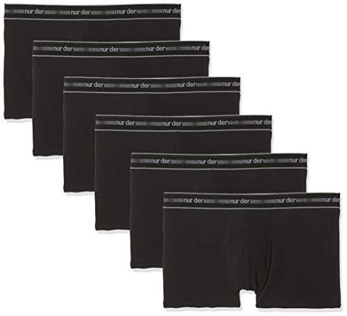 Auschecken 9a806 c580b Nur Der Men's 6er Pack Herren Boxer Cotton 3D-Flex Shorts, (Black 94), L  (Size: 6) (Pack of 6