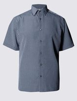 Marks and Spencer Easy Care Soft Touch Geometric Print Shirt