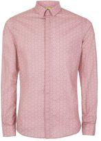 Topman NOOSE & MONKEY Pink and White Heart Print Shirt