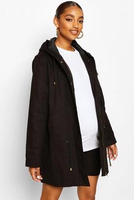boohoo Maternity Parka Coat