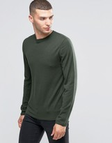 Sisley Fine Knitted Sweater with Reverse Seam Detail