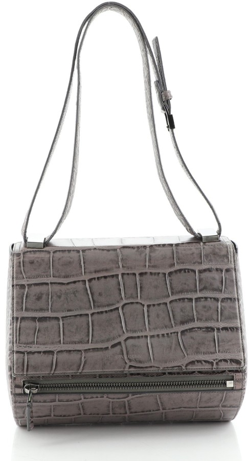 Givenchy Pandora Box Bag Crocodile Embossed Leather Medium