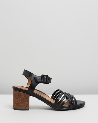 Vionic Women's Black Heeled Sandals - Peony Heeled Sandals - Size One Size, 6 at The Iconic