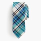 J.Crew Italian cotton-linen tie in plaid