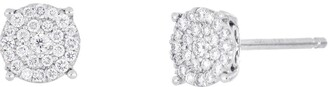 Bony Levy Mika Pave Diamond Small Circle Stud Earrings