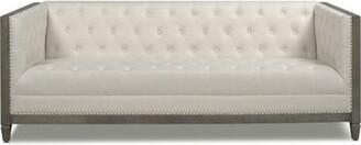 "Gracie Oaks Goldstein 81"" Tuxedo Arm Sofa Upholstery Color: Natural White"