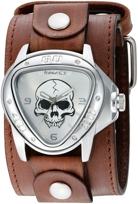 Nemesis 'Triangle Heavy Duty' Quartz Stainless Steel and Leather Watch Color:Brown (Model: BFLBB936S)