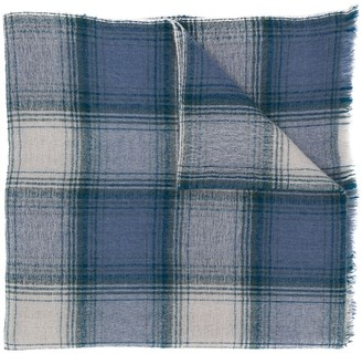 Isabel Marant Checkered Cashmere-Wool Scarf